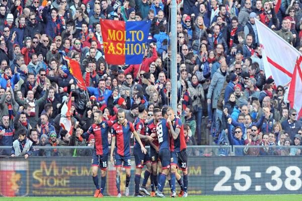 Genoa-Palermo 24 esultanza genoa tifosi rigoni