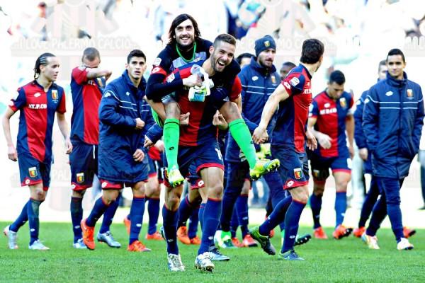 Genoa-Palermo 37 pavoletti perin esultanza finale