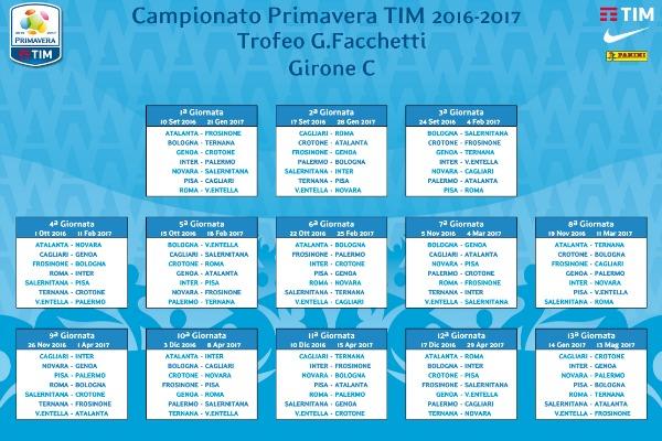 Campionato Primavera Calendario.Campionato Primavera Il Calendario Completo Del Girone C