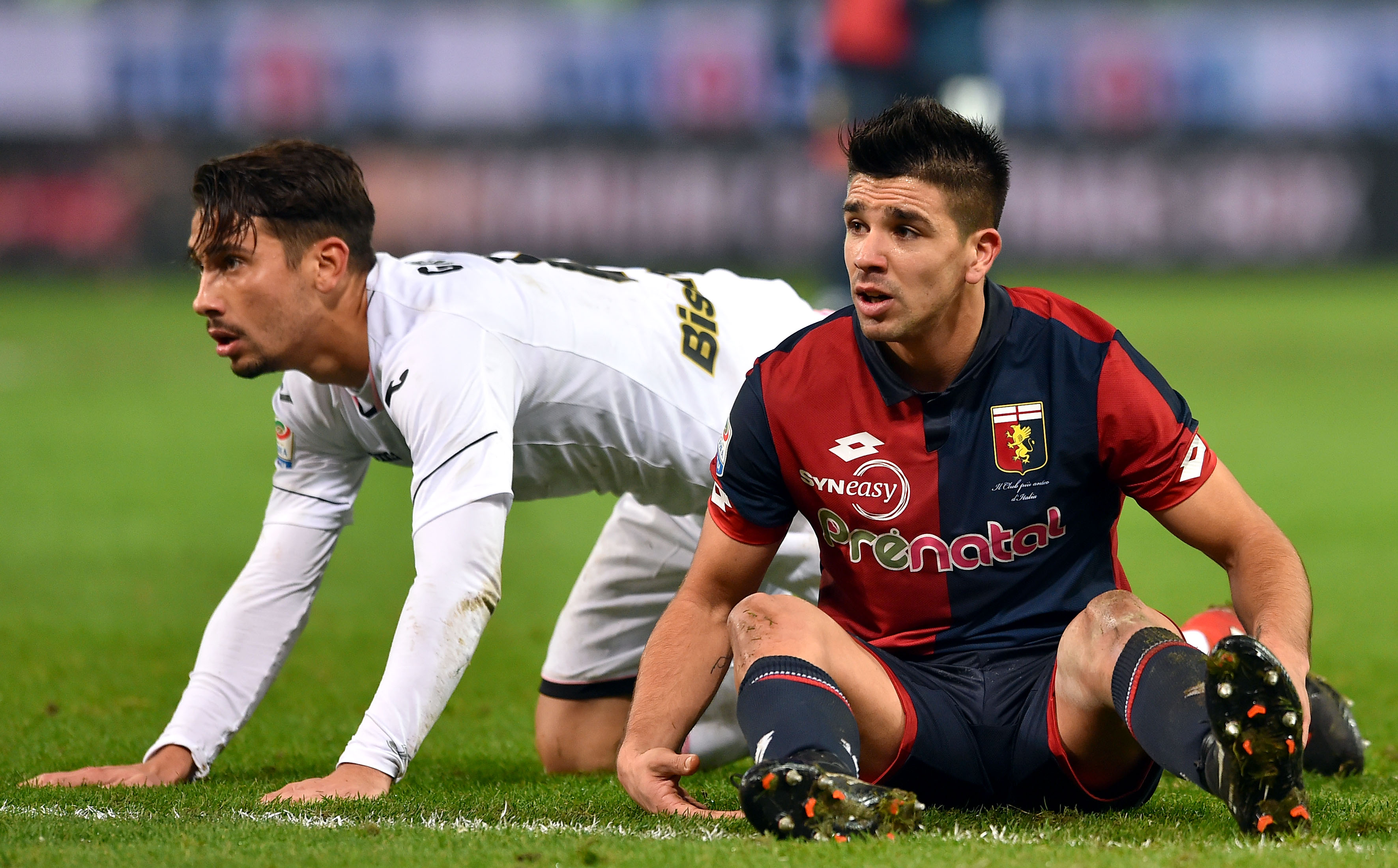 Genova, 18/12/2016 Serie A/Genoa-Palermo Edoardo Goldaniga-Giovanni Pablo Simeone