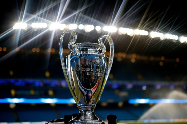 Football - Manchester City v FC Barcelona - UEFA Champions League Second Round First Leg - Etihad Stadium, Manchester, England - 24/2/15 General view of the UEFA Champions League trophy at the Etihad stadium before the match Reuters / Phil Noble Livepic EDITORIAL USE ONLY.