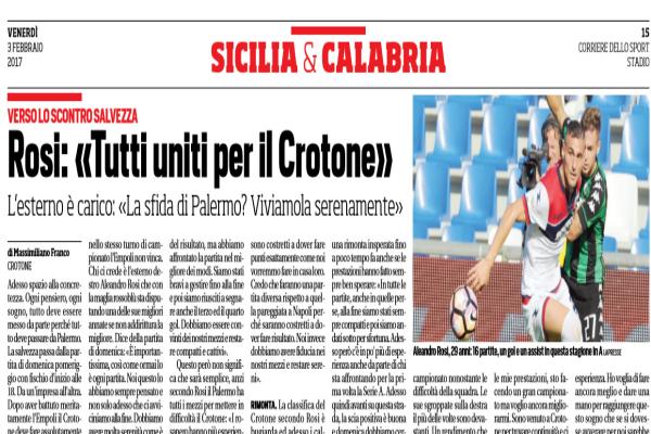 Palermo-Crotone Diretta Streaming Live: 23° giornata Serie A, 5-2