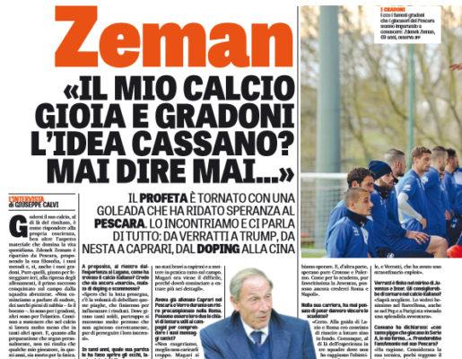 Pescara, Zeman: è tornato l'allenamento sui gradoni