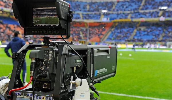 Diritti televisivi telecamera stadio Tv Rights Television  Milano 1-03-2015 Stadio Giuseppe Meazza - Football Calcio Serie A Inter - Fiorentina. Foto Giuseppe Celeste / Insidefoto