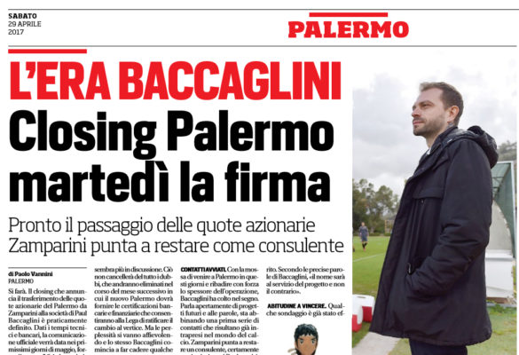 Palermo: in India parlano di Baccaglini, ecco cosa scrivono