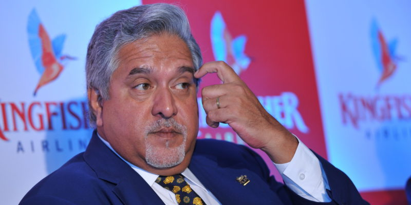 MUMBAI, INIDA  NOVEMBER 15: Vijay Mallya, Chairman of Kingfisher Airlines at press conference to announce the results at Regency Ballroom, Hyatt Regency, Andheri (E) on November 15, 2011 in Mumbai, India. (Photo by S Kumar/Mint via Getty Images)