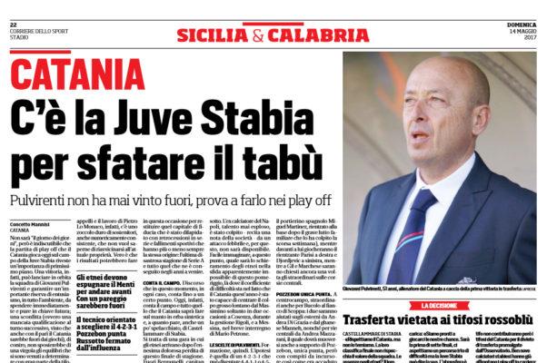 Catania, a Castellammare di Stabia formazione confermata?