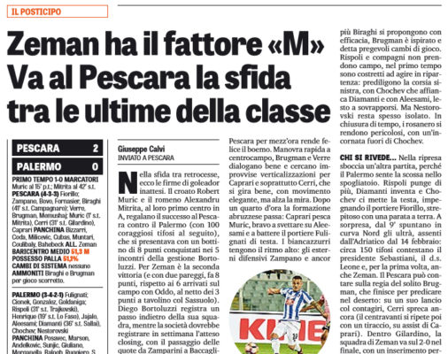 A Zeman la sfida tra deluse. Muric-Mitrita: 2-0 al Palermo