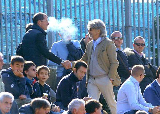Genova, 01/11/2014 Primavera/Genoa-Sampdoria Carlo Osti (d.s. Sampdoria)-Massimo Ferrero (presidente Sampdoria)
