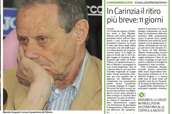 Palermo, Baccaglini: