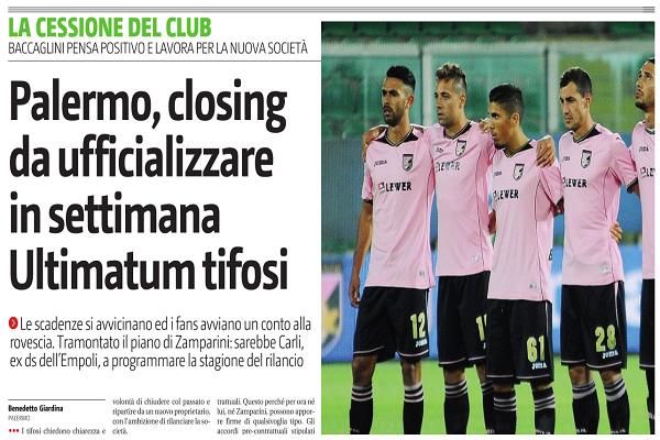 GDS - Rischio fallimento per il Palermo