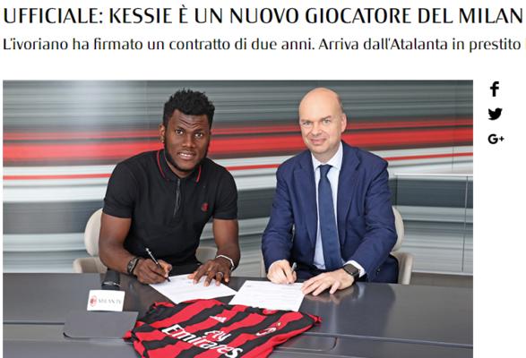 Kessie è un nuovo calciatore del Milan