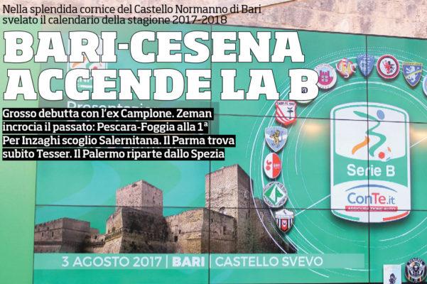 Calendario Serie B Bari.Corriere Dello Sport Svelato Il Calendario Della Nuova