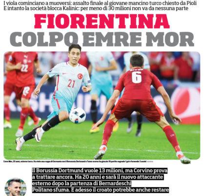 Fiorentina, offerta per Emre Mor del Borussia Dortmund