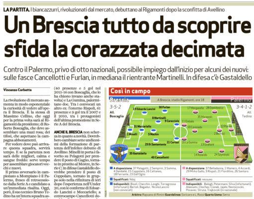 Pronostici serie B: paga bene il segno X di Brescia-Palermo