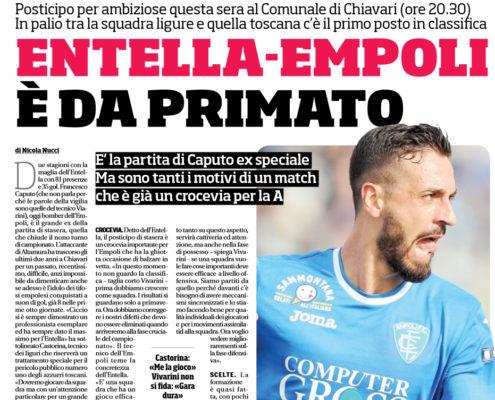 Serie B 2017/2018: Virtus Entella-Empoli, le formazioni ufficiali della nona giornata