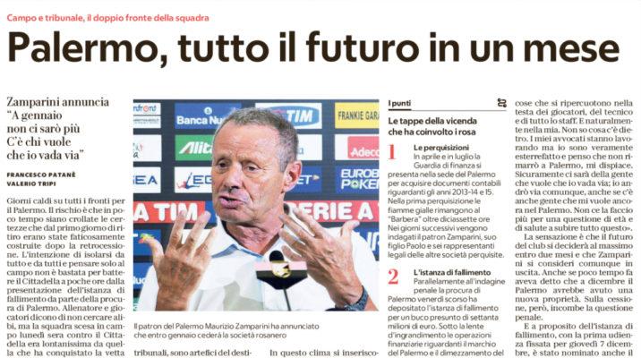 Zamparini, il patron del Palermo si difende e nomina l'Inter. Le parole…