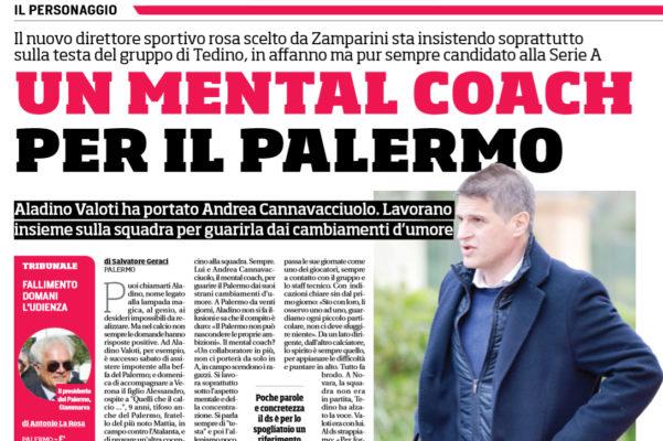 """Corriere dello Sport: """"Un mental coach per il Palermo  Poche"""