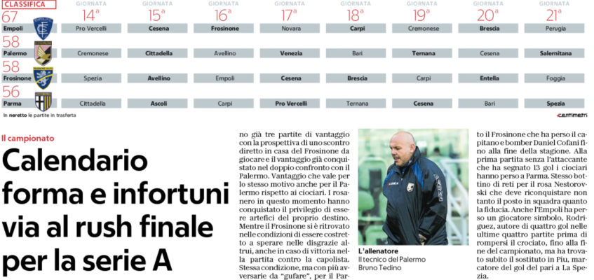Calendario Repubblica.Repubblica Calendario Forma E Infortuni Via Al Rush Finale
