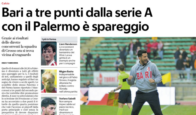 Il Palermo pareggia con il Bari, esordio agrodolce per Stellone