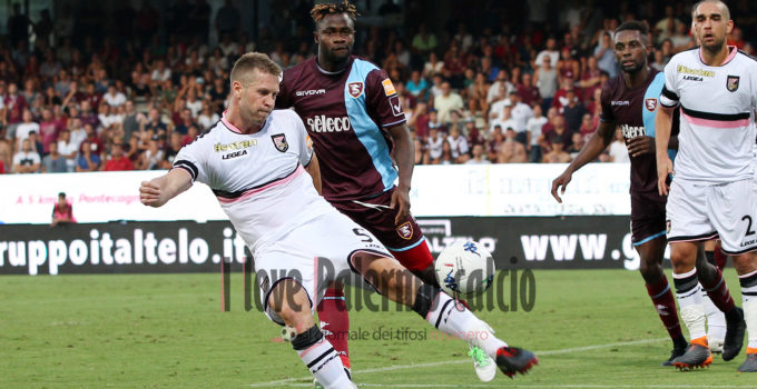 SAL – 25 08 2018 Salerno Stadio Arechi. Salernitana – Palermo Serie B. Nella foto rajkovski. Foto Tanopress