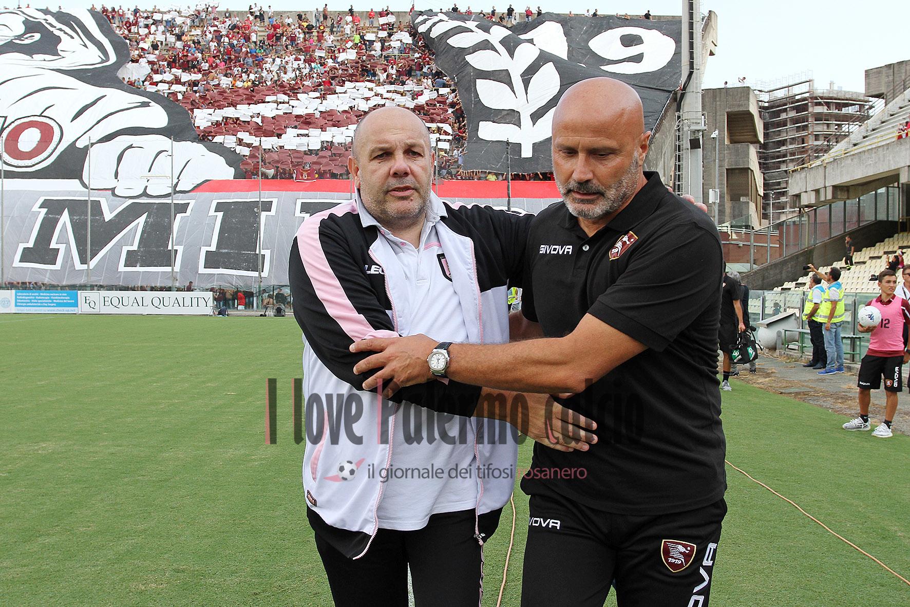 SAL – 25 08 2018 Salerno Stadio Arechi. Salernitana – Palermo Serie B. Nella foto tedino, colantuono. Foto Tanopress