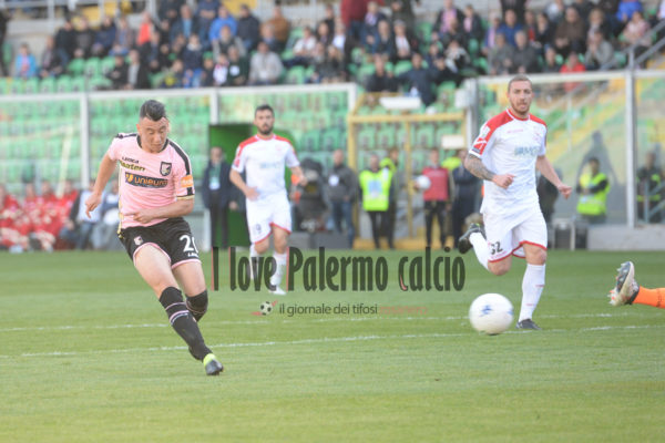 ipp/pasqualeponente palermo 19/03/2019 campionato di calcio serie b 2018/19 palermo - carpi nella foto cesar falletti gol italy photo press - world copyright