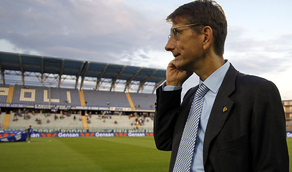 EMPOLI, ITALY - AUGUST 23: Luca Campedelli president of AC Chievo Verona during the Serie A match between Empoli FC and AC Chievo Verona at Stadio Carlo Castellani on August 23, 2015 in Empoli, Italy.  (Photo by Gabriele Maltinti/Getty Images)