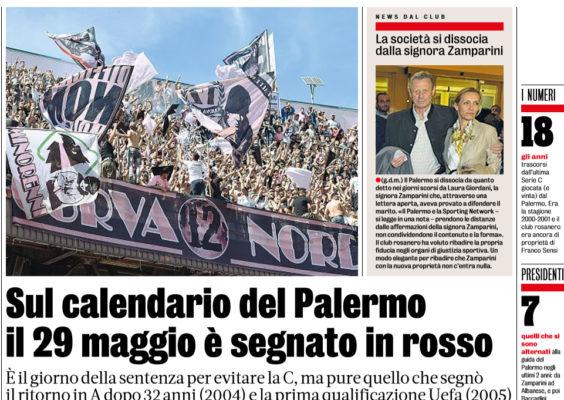 Gazzetta Calendario Serie A.Gazzetta Dello Sport Sul Calendario Del Palermo Il 29