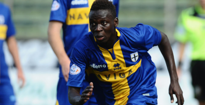 PARMA, ITALY - SEPTEMBER 30:  Moussa Bala Sowe of Parma in action durnig the Coppa Italia Serie D match between Parma Calcio 1913 and Ribelle 1927 at Stadio Ennio Tardini on September 30, 2015 in Parma, Italy.  (Photo by Roberto Serra/Iguana Press/Getty Images) *** Local Caption *** Moussa Bala Sowe