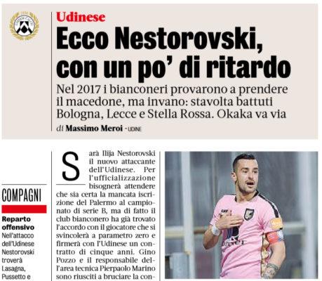 Nestorovski vicino all'Udinese. Il Toro si allontana