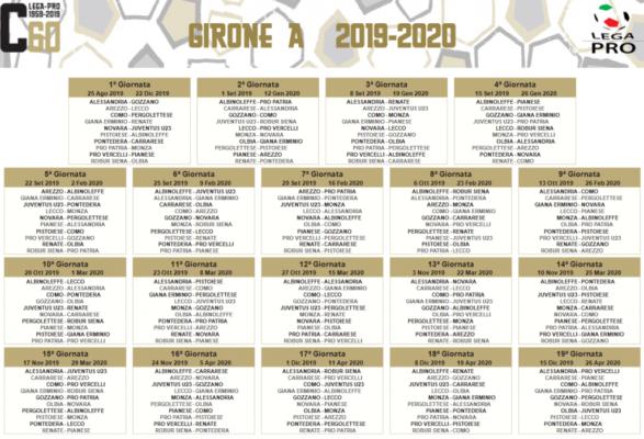 Calendario Gare Pesca Al Colpo 2020.Calendario Serie C 2019 2020 Ecco Tutte Le Gare Dei Gironi
