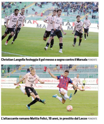 Corriere Dello Sport Palermo La Carica Under I Baby Rosanero Hanno Salvato Il Primato Da Langella A Felici Il Club Gia Si Proietta Verso La Serie C Ilovepalermocalcio