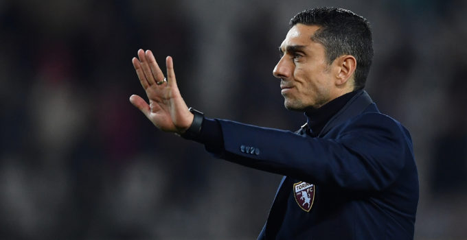 TURIN, ITALY - FEBRUARY 08:  Torino FC head coach Moreno Longo waves the fans at the end of the Serie A match between Torino FC and  UC Sampdoria at Stadio Olimpico di Torino on February 8, 2020 in Turin, Italy.  (Photo by Valerio Pennicino/Getty Images)