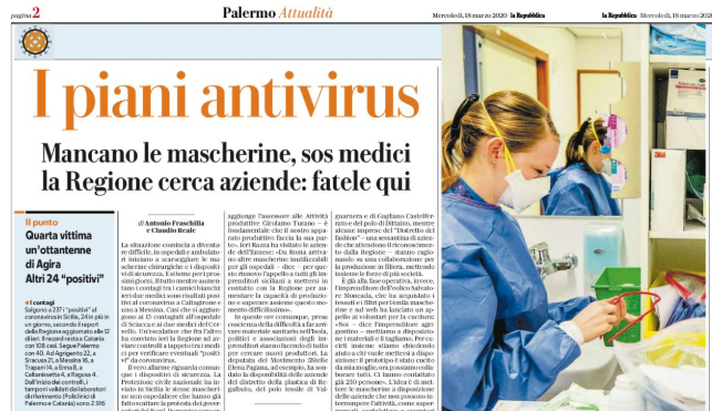 mascherina antivirus neonato