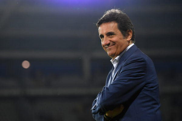 TURIN, ITALY - AUGUST 22:  Torino president Urbano Cairo smiles during the UEFA Europa League Playoffs 1st Leg match between Torino and  Wolverhampton Wanderers at Stadio Olimpico on August 22, 2019 in Turin, Italy.  (Photo by Valerio Pennicino/Getty Images)